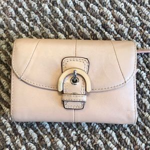 Light pink leather coach wallet